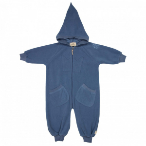 Bilde av Bunny Fleece Overall Moonlight Blue fra MeMini