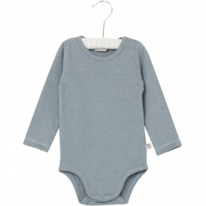 Bilde av Baby body i dusty blue fra Wheat