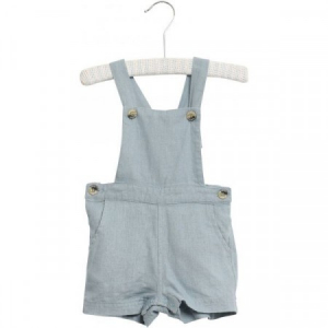 Bilde av Baby gutt overall i lin Erik ashley blue fra Wheat