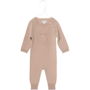 Bilde av Baby jente heldress Bigger i merinoull rose dust fra Mini A