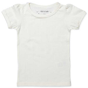 Bilde av Jente t-shirt Ellamarie i antique white fra Mini A Ture