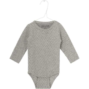 Bilde av Ellis body dot bomull light grey melange fra Mini A Ture