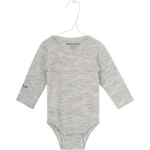 Bilde av Ellis body merinoull/bambus ensfarget light grey melange
