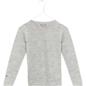 Bilde av Erion t-shirt merinoull/bambus ensfarget light grey melange