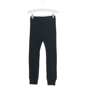 Bilde av Wool leggings til stor i navy fra Wheat