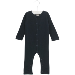 Bilde av Wool heldress i ensfarget navy fra Wheat