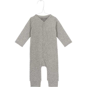 Bilde av Mattie romper bomull dot light grey melange fra Mini A Ture