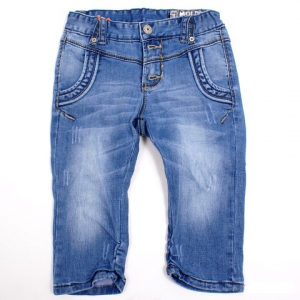 Bilde av Aliki stone blue denim 3/4 shorts fra Molo