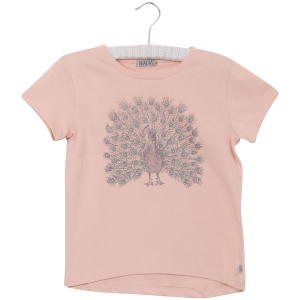 Bilde av Baby jente t-shirt Peacock i powder fra Wheat