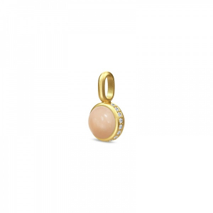 Image of Luna Pendant Gold Peach Moonstone