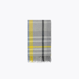 Image of Holzweiler Dipper Check Scarf Shadow Yellow