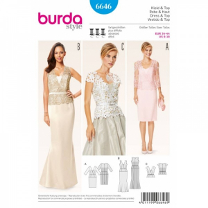 Bilde av 6646 Dress / Top Burda Blå