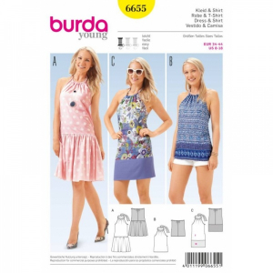 Bilde av 6655 Dress / Shirt Burda Gul
