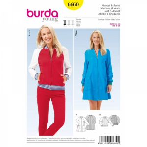 Bilde av 6660 Coat / Jacket Burda Gul