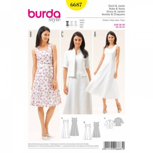 Bilde av 6687 Dress / Jacket Burda Gul