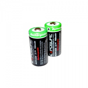 Bilde av Exposure CR123 Batterier, Ladbar, 2pk