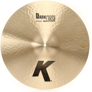 "Bilde av Zildjian 18"" K Medium Thin Dark crashcymbal"