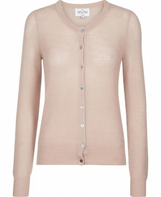 Mesh cardigan - powder pink