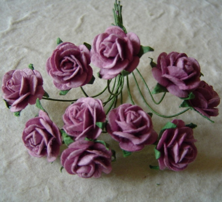 Open Roses 10mm Dark Lilac