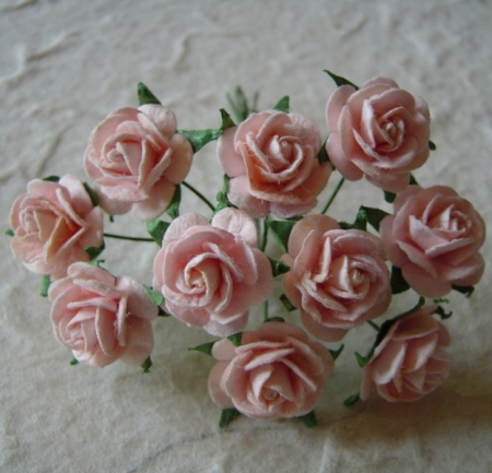 Open Roses 15mm Pale Pink