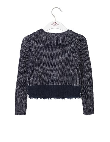 Jente strikket cardigan i dress blue fra Noa Noa