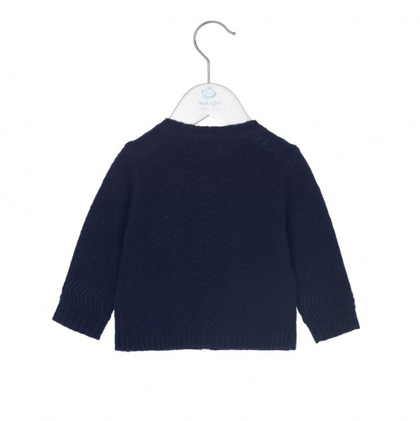 Baby gutt cardigan str 56-104 i strikk i dress blue fra Noa Noa
