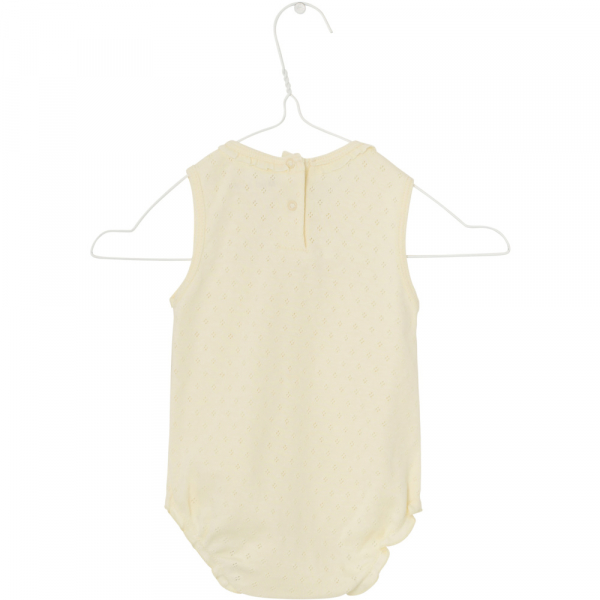 Baby jente romper Julie yellow anise flower fra Mini A Ture