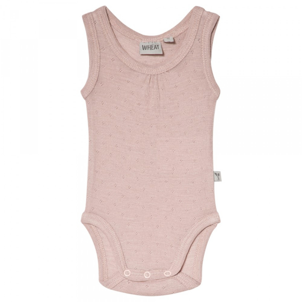 Wool - bamoo singlet body shadow rose fra Wheat