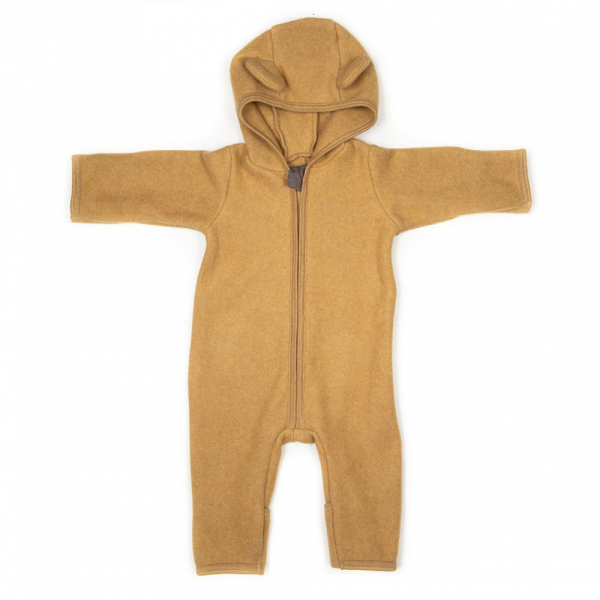 Heldress i bommulds fleece Ocre Allie fra Huttelihut