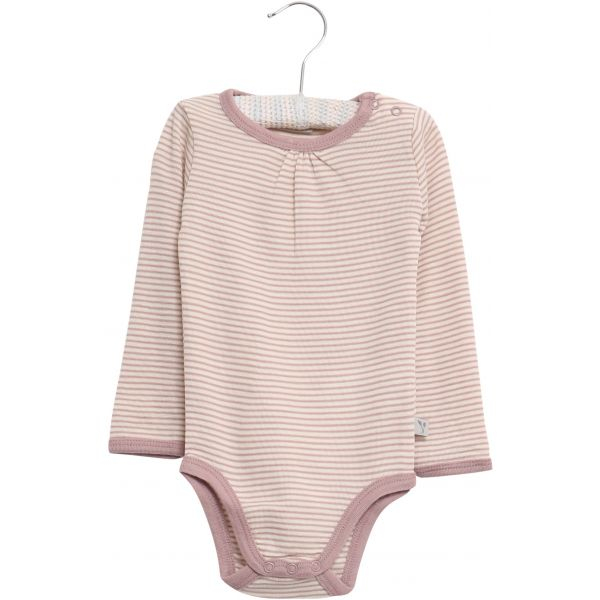 Wool body i stripete fawn fra Wheat