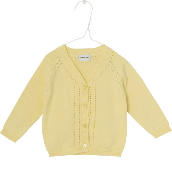 Baby jente cardigan Brinette i pale banana fra Mini A Ture