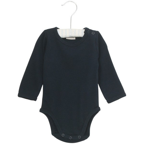 Wool body i ensfarget navy fra Wheat