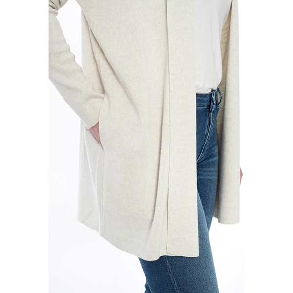 Demi Shawl Cardigan Light Grey Melange