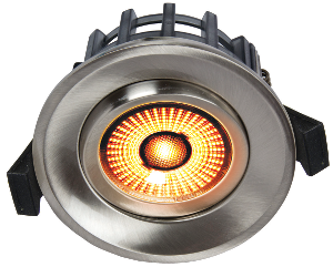 Bilde av Juno gyrocob+ 10w warmdim bs b. stål downlight