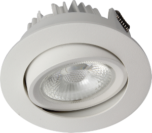 Bilde av juno cob+ led 10w ip44 matt hvit. inkl. driver downlight