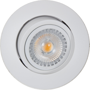 Bilde av Juno safe led 6,5w sgu10 matt hvit led downlight ra95 downlight