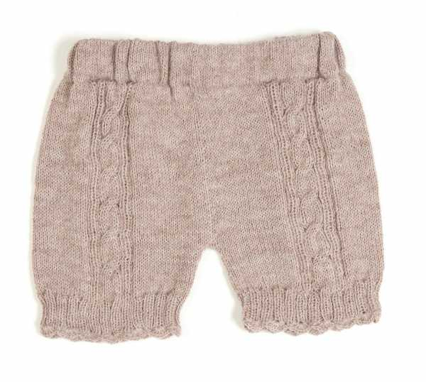 Baby strikke shorts dusty rose fra Huttelihut