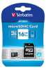 Verbatim Micro SDHC Card 16GB Class 10 m/adapter
