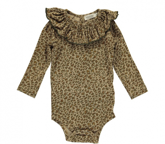 Baby body Berta i Leather Leo fra MarMar