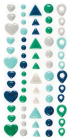 WE R MEMORY KEEPERS - ENAMEL DOTS & SHAPES STICKERS - COOL