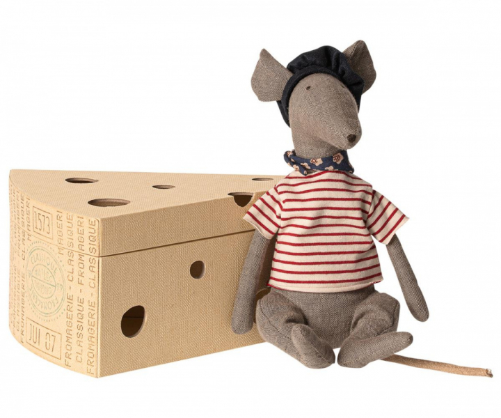 Bamse - Cool rat in cheese box - Grey fra Maileg