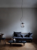 Blown lampe Grey