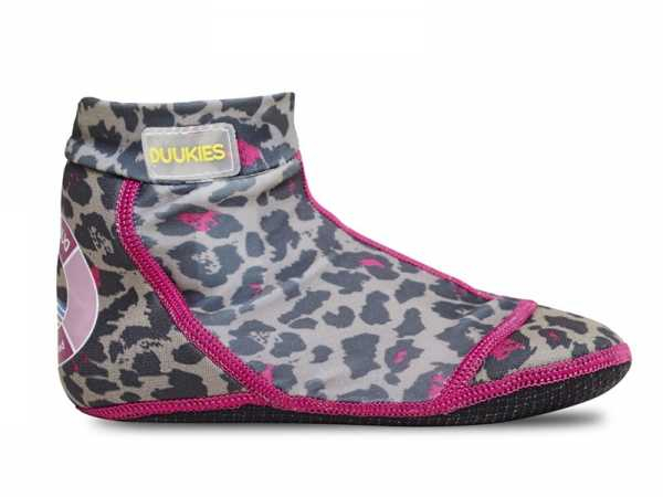 Duukies leopard strandsokker med UV protection 50