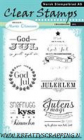 NORSK STEMPELBLAD - CLEAR STAMPS 4326 - CHALK JUL 6x8