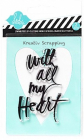 HEIDI SWAPP - STAMP & STENCIL 98157 - ALL MY HEART - 4 igjen