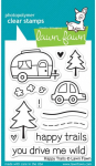LAWN FAWN - CLEAR STAMPS LF601 - HAPPY TRAILS - 3x4