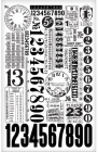 TIM HOLTZ - IDEA-OLOGY - TH93056 - REMNANT RUBONS - NUMBERS