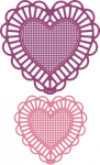CHEERY LYNN DESIGNS - DL128 - TWO OF HEARTS