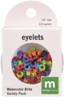 MM Eyelets; Variety Pk Watercolor Bright