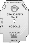 NMRA Inc Standards Gauge H0